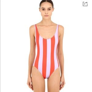 Solid + Striped | Red and Purple Striped Swimsuit